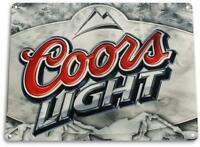 """Coors Light"" Metal Art Store Pub Brew Beer Liquor Shop Bar Cave Sign"