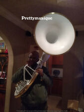 """SOUSAPHONE WHITE BIG 25"""" BELL SIZE + CASE + MOUTHPIECE + FREE SHIP ( FOR BANDS )"""