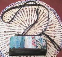 STUDIO By Demdaco Faux Black Leather LOVE Crossbody Wristlet Wallet Convertible