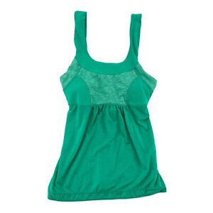 Prana Tank Top Built in Bra Athletic Removable Cups green Womens XS Gym Yoga
