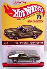 2017 Hot Wheels Red Line Club RLC '72 Ford Gran Torino Sport Kar Keeper