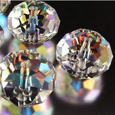 500Pcs Clear Crystal Gem Beads 4x6mm DIY