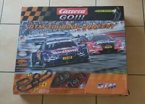 Carrera Go!!! DTM Touring Contest Slot Cars Set In Box