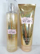 Bath Body Works In The Stars Set Lot Diamond Shimmer Spray Mist & Body Cream