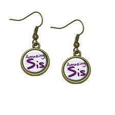 Amazing Sister Dangle Dangling Drop Earrings