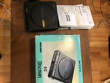 VINTAGE SONY D-12 DISCMAN CD COMPACT PLAYER With HEADPHONES & ORIG BOX