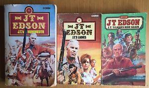 J. T. Edson Ladies - Ride Again & J T's  Hundredth ALL 3 Western Cowboy Books