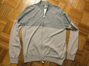 Great gift!  Eleventy wool/silk full-zip cardigan, made in Italy, new with tags