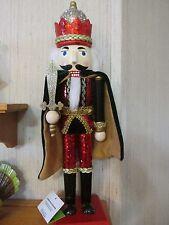 Red Green Gold Silver Nutcracker Christmas Royal King Sequins Robe