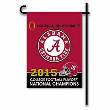"NCAA Alabama Crimson Tide College Football Champ 2 Sided Garden Flag, 13"" x18"""