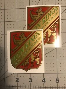 Iron King Madison Early Decal for seeders and cultivator  2 for 1 price