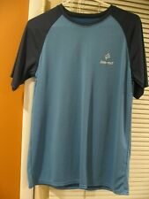 Men's BodyPost Short Sleeve Shirt Blue on Blue M Nwot Medium