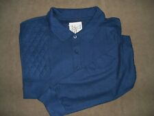 Xl Rh Trap/Skeet Pad Navy 50/50 Blend Pique Long Sleeve Polo Shooting Shirt