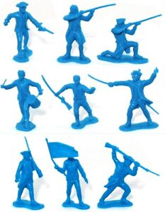 Marx Recast 54mm Colonial Militia - 25 in 9 poses - 1990s production