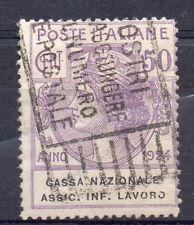 """FRANCOBOLLI 1924 REGNO ENTI PARASTATALI 50 CENTESIMI CON """" O ROTTA """" B 2106"""