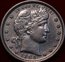 1894 Philadelphia Mint Silver Barber Quarter
