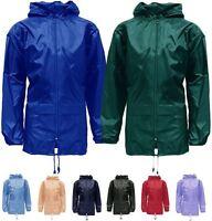New Unisex Mens Womens Plus Size Kagool Lightweight Rain Jacket Coat