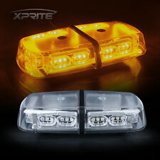 36 LED Oval Strobe Lights Bar Roof Top Emergency Hazard Flash Lamps Yellow/Amber