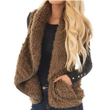 New Women Warm Winter Thicken Fleece Fur Coat Vest Parka Overcoat Jacket/Outwear