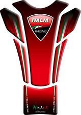 KEITI Motorcycle Bike Tank Pad Protector Sticker SLIMLINE Ducati Red TDC104R