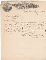 U.S. The ETNA Building & Loan Association Logo Topeka,Kansas 1901 Letter Rf44079