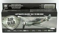 Vallejo 71.166 Luftwaffe Colors 1941 to End-War (Air War) Acrylic Paint Set WWII