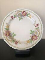Vintage Dinner Plate Field Rose Pattern by Wood & Sons Burslem