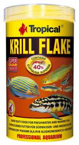 Tropical Krill 40% Flakes 1000 ML Farbverstärkendes Mangime per Pesci Fiocchi