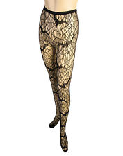 Bat Printed Fishnet Stockings Womens Adult Black Halloween Costume Accessory