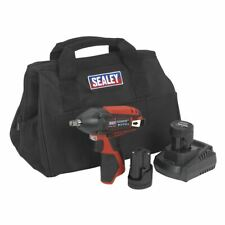 "Sealey 12V Impact Wrench Kit 3/8""Sq Drive - 2 Batteries"