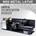 "7"" x 14""Mini Metal Lathe Machine 550W Variable Speed 2250 RPM 3/4HP Upgraded"
