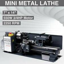 "7"" x 14""Mini Metal Lathe Machine 550W Variable Speed 2250 Rpm 3/4Hp Upgraded"