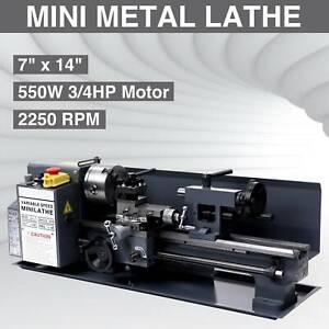 "7""x14""Mini Metal Lathe Machine 550W Variable Speed 2250 RPM 3/4HP New"