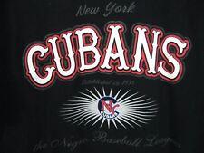 New York Cubans T-Shirt XL Negro Baseball League Short Sleeve Black 100% Cotton