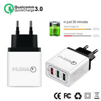 30W QC 3.0 Fast Quick Charger 3 Port USB Hub Wall Charger Adapter H