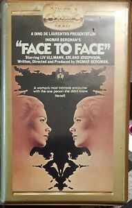Liv Ullman in Ingmar Bergman's Face To Face - Australian PAL VHS, sold as is