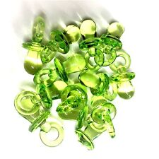 10 X CLEAR GREEN Dummy Charms / Dummy Pendants 31mm GUMBALL, Baby Shower