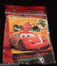 Hallmark Disney Pixar Cars Lightning McQueen Happy Birthday Banner 8.35 ft long