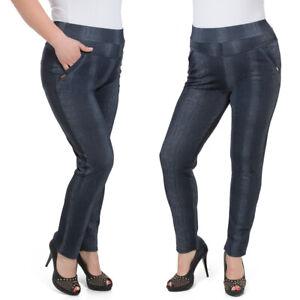 Damen Hose mit Geradem Bein Hohe Taille Streifen Hose Übergröße 2XL-6XL KZY-W020