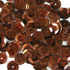 Sequins Brown 5mm Round Cup ~1,000 or ~12,500 pieces Loose High Quality