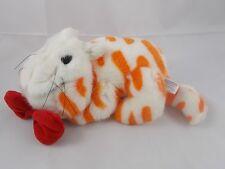 "Steven Smith Orange White FAT CAT Plush 8"" Nose to Behind"