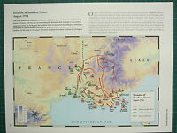 WW2 WWII MAP ~ INVASION OF SOUTHERN FRANCE AUG 1944 ALLIED ATTACKS GERMAN HOLDS