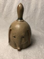 "Rustic Ceramic Pottery Bell Elephant Design Uc Cti Japan 4.5"" Tall"