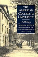 American College and University: A History: By Frederick Rudolph