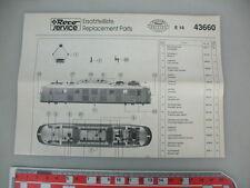 O685-0,5# ROCO H0 Ersatzteileliste für E 18, 43660 Museums Edition