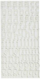 American Crafts Thickers Glitter Foam Letter Stickers, Sunny White