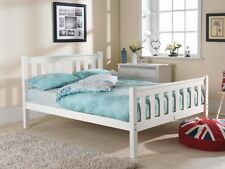 FAST AND FREE DELIVERY 4FT 6IN SHAKER HIGH FOOT END BED WHITE