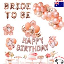 Balloon Garland for birthday wedding bridal shower rose gold confetti blush pink