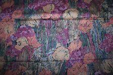 Beau tissu d'ameublement vintage, épais, larg 140 cm x H 210 cm