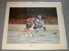 NHL Toronto Maple Leafs Darryl Sittler Signed Numbered 192/500 Hockey Print